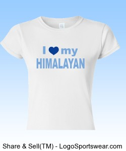 Himalayan Cat Lover's Tee Design Zoom